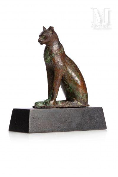 Statuette de chatte Bastète assise
