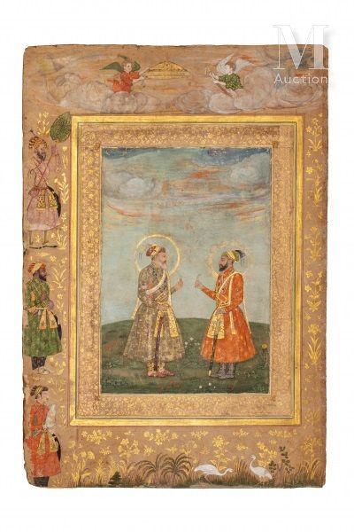 Double portrait de Shah Jahan et Aurengzeb-Alamguir