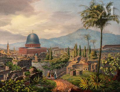 Vue de la mosquée d'Omar à Jérusalem