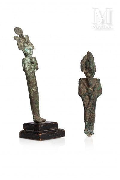 Lot de deux statuettes d'Osiris