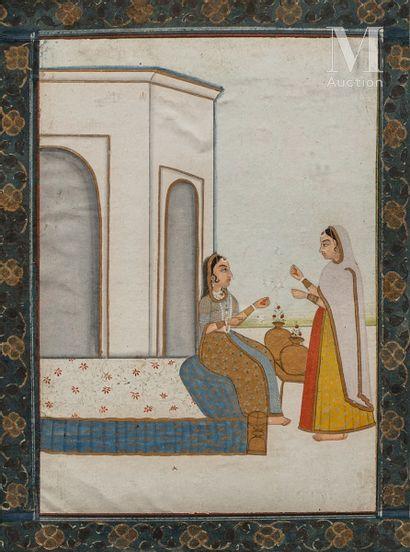 Deux femmes sur la terrasse