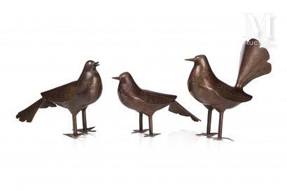 Ensemble d'oiseaux Qajar