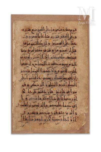 Deux bifolios de Coran ilkhanide