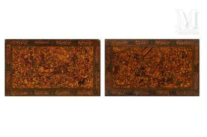 Deux plats de reliure qâjâr