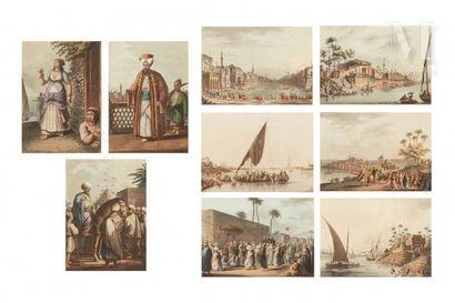 Neuf gravures sur l'Egypte