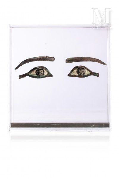 Paire d'yeux d'incrustation de sarcophage