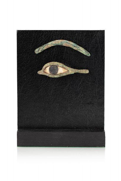 Oeil gauche d'inscrustation de masque de sarcophage