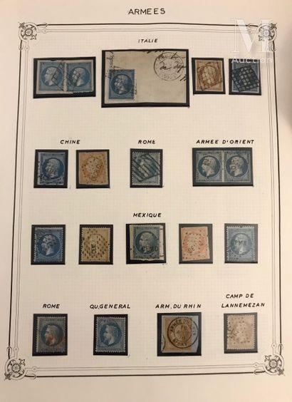 Jolie collection d'oblitérations, timbres et lettres classés par catégories: