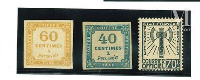Timbre taxe, collection présentée sur feuilles d'Album.