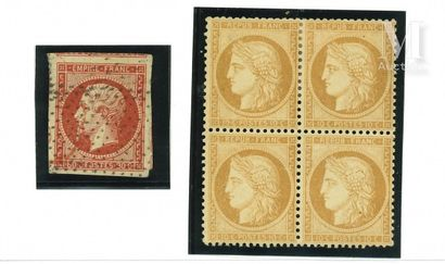 Collection 1849-1875, timbres types.