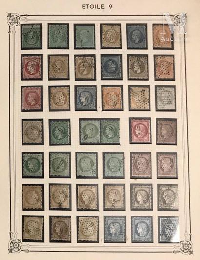 Collection sur timbres détachés Ø,