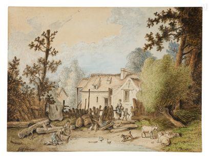 Nicolas HUET, le vieux (Paris 1718 - 1780)