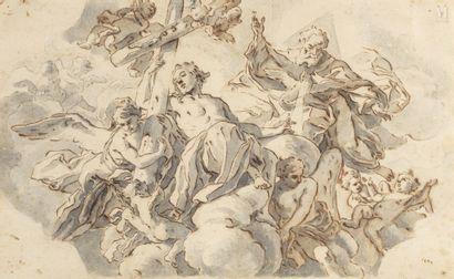 Attribué à Giovanni Battiste GAULLI dit BACICCIO (Gênes 1639 – Rome 1709)