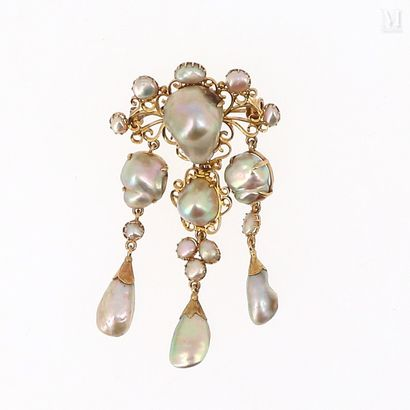 Broche perles