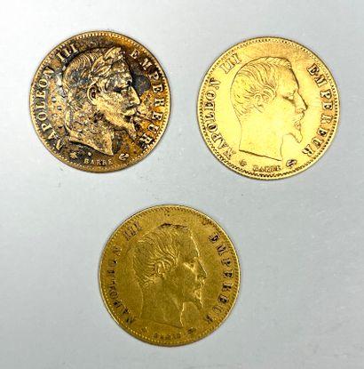 France – Napoléon III (1852-1870)  Lot de...