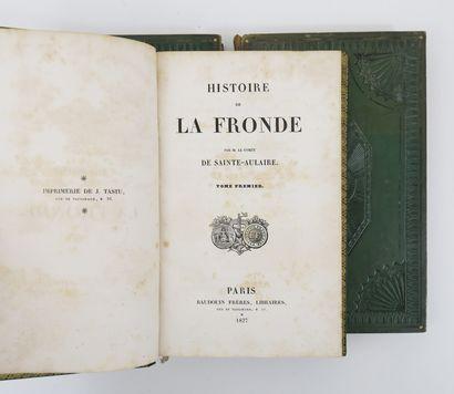SAINTE-AULAIRE (Louis-Clair Beaupoil, comte puis marquis de). Histoire de la Fronde....