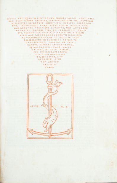 RHODIGINUS (Ludovico Ricchieri, dit).