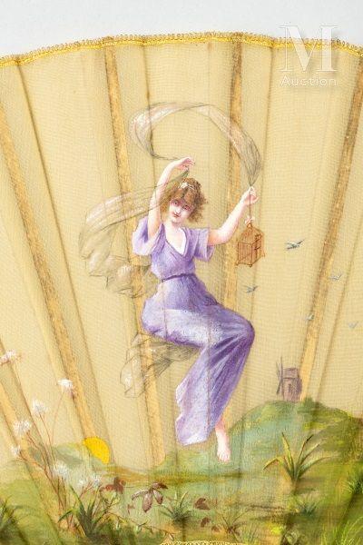 L'échappée belle, vers 1891 L'échappée belle, vers 1891  Éventail plié, la feuille...