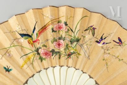 Broderie colorée, Chine, XIXe siècle