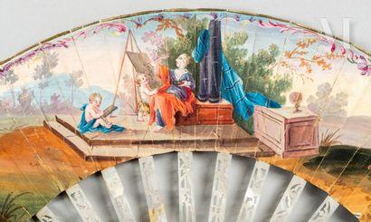 Vénus et Apollon, vers 1750-1760 Vénus et Apollon, vers 1750-1760  Petit éventail...