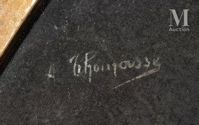 Adolphe Thomasse (1850-1930), La course de lévriers, vers 1890-1900 Adolphe Thomasse...