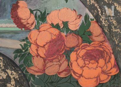 Jeunes femmes au jardin, vers 1900 Georges de Feure (1868-1943), attribué à, Jeunes...