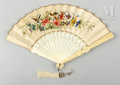 Faisans brodés, Chine, XIXe siècle