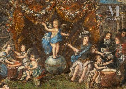 L'Amour gouverne le monde, fin XVIIe-début du XVIIIe siècle L'Amour gouverne le monde,...