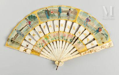 Cabriolet, Japon, fin du XIXe siècle Cabriolet, Japon, fin du XIXe siècle  Éventail...