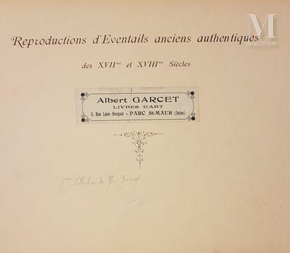 Reproductions d'éventails anciens authentiques des XVIIe et XVIIIe siècles. Albert Garcet livres d'art