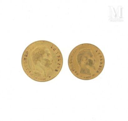 Deux pièces or
