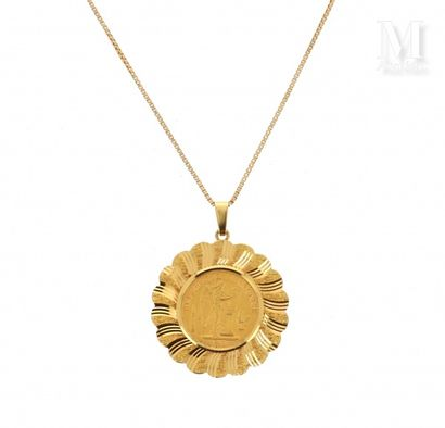 Collier pièce 20 FF or