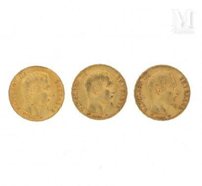Trois pièces 20 FF or