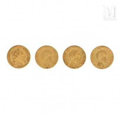Quatre pièces 20 FF or