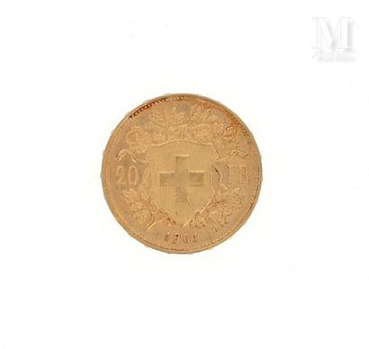 Pièce 20 francs Suisse or