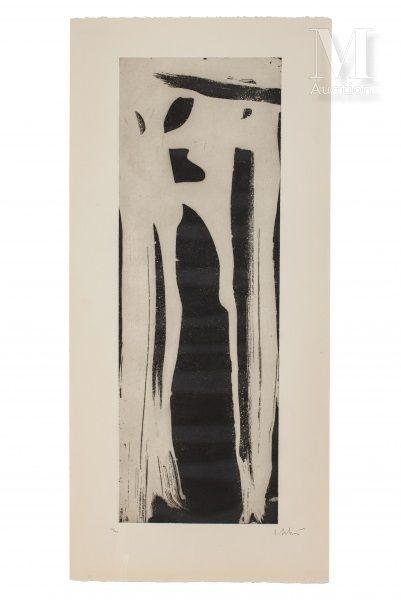 Olivier DEBRE (1920-1999) Signe  Eau forte, épreuve signée et numérotée 12/40  120...