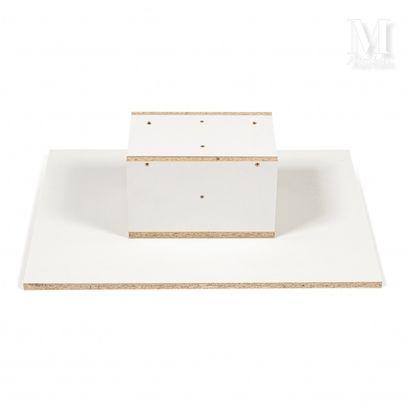 Mathieu MERCIER (né en 1970) Tableau étagère, 1999  Bois  50 x 70 x 21 cm    Provenance:...