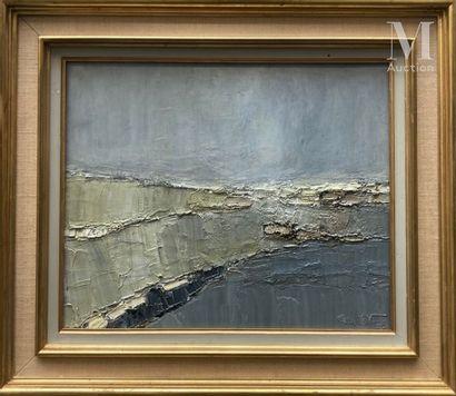 Jean GILLET (XXe) Sans titre, 1977  Huile sur toile signée et datée en bas à droite...