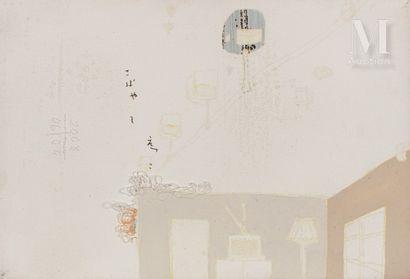 Etsuko KOBAYASHI (née en 1974) Sans titre, 2008  Acrylique et couture sur toile,...