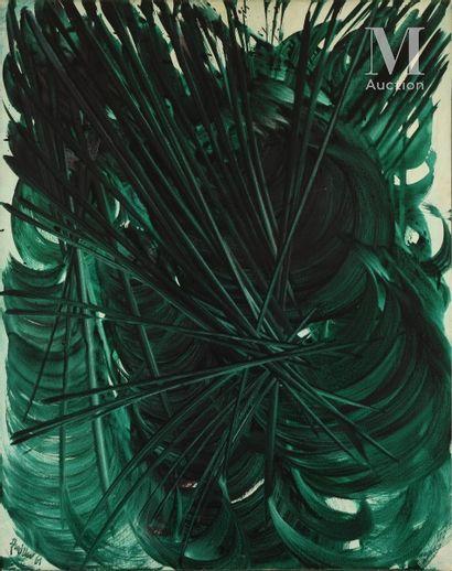René DUVILLIER (1919 - 2002) Les fourches dans la mer, 1961  Huile sur toile signée...