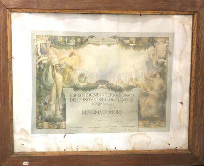 Diplôme d'honneur décerné à François Bovis...