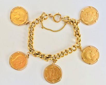 Bracelet gourmette en or jaune 18 K (750°/°°)