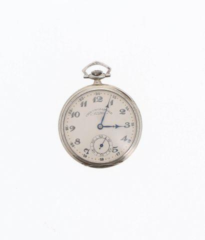 JUSMA CHRONOMÉTRES Lot de deux montres de poche en argent (800 millièmes).  Circa...