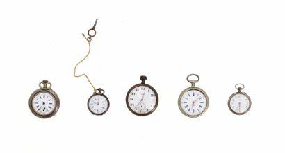 Lot de cinq montres