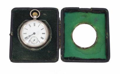 TRAVAIL ANGLAIS Montre de poche en argent anglais (925 °/°°) du XIXème siècle dans...
