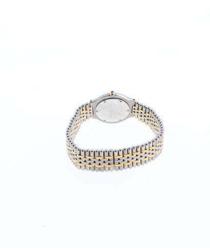 CARTIER Must 21  Vers 1990  Boitier acier  Mouvement quartz  Diam: 29mm  Bracelet...