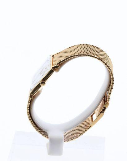 JAEGER-LECOULTRE Montre carrée pour homme en or 18K (750 millièmes) sur bracelet...