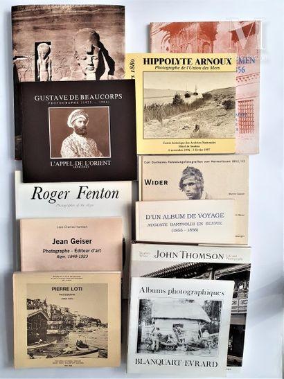 EGYPTE & PHOTOGRAPHES: 12 ouvrages et catalogues