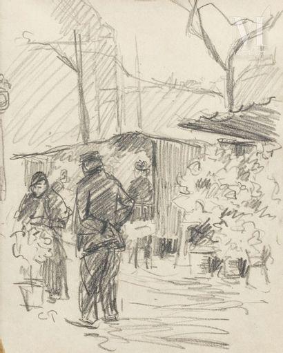 Dans le goût de Camille PISSARRO (1830-1903)
