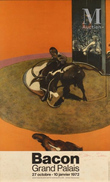 Francis BACON (1909-1992) Bacon, Grand Palais, 1972  Offset en couleurs, affiche...